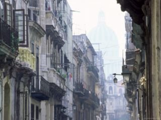 Street Scene in Havana Viejo, with Capitolio Nacional in Background, Havana, Cuba, West Indies Photographic Print by Lee Frost