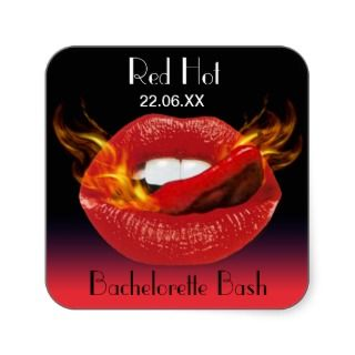Red Hot Bachelorette Bash Seal Stickers