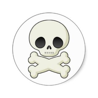 Pirate Skull & Crossbones Round Sticker