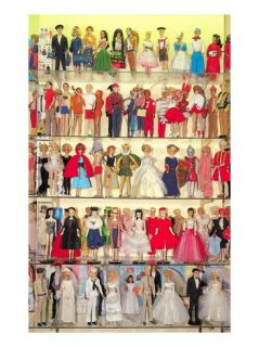 Barbie Doll Collection, Retro Giclee Print