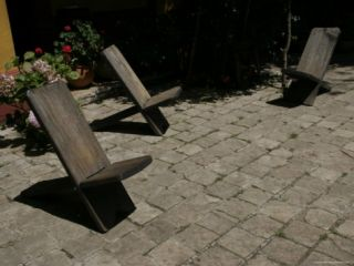 Rustic Wood Chairs Sitting on Cobblestone, San Cristobal de Las Casas, Mexico Photographic Print by Gina Martin