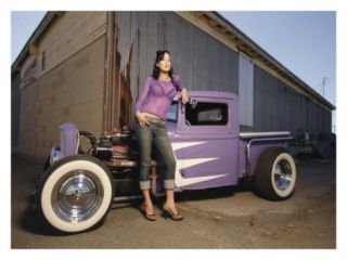 Hot Rod Pin Up Girl Giclee Print by David Perry