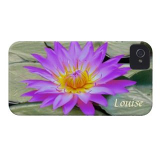 Pink purple Lotus flower Monogram Case Mate Case iPhone 4 Case Mate