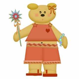 Summer Flip Flops Belly Button Bear sculpture Cut Outs