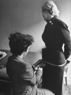 Miss Sweden Anita Ekberg, a Model From Malmo, Having Her Hips Measured Head of Ford Model Agency Premium Photographic Print by Lisa Larsen