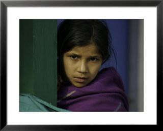 Young Girls Face, Nepal Pre made Frame