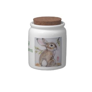 Bunny Rabbit Treat Jar   Bunny Num Nums Candy Dishes
