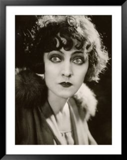 Half Length Portrait of the Film Actress Diomira Jacobini Pre made Frame