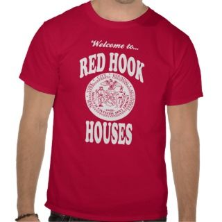 Welcome to Red Hook Houses   White Print Tee Shirt