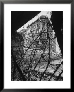 Barbed Wire Which Separates East and West Berlin Pre made Frame