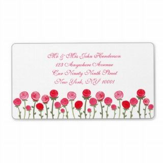 Rose Flower Wedding Elegant Address Labels Sticker