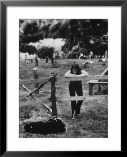 Young Girl Attending Woodstock Music Festival Pre made Frame