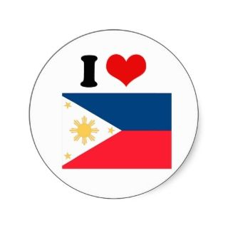 Philippines Flag Round Stickers
