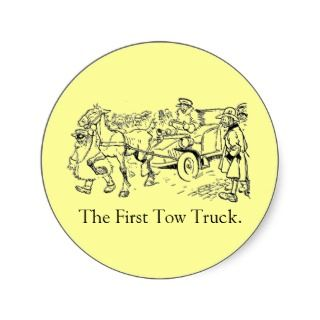 The First Tow Truck Sticker