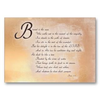 Inspirational Bible Verse Cards Business Card Template