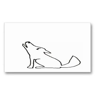 dog howling   fun drawing art CUSTOM Business Cards