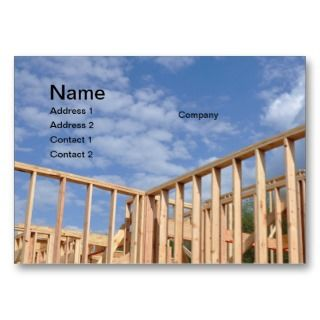 new house construction business cards