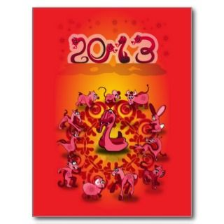 Chinese New Year 2013 Year of the Snake Postcards