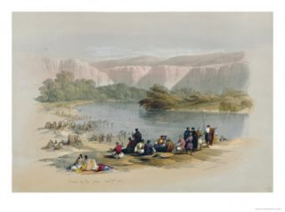Banks of the Jordan, 1839, Plate 48 from Volume II of The Holy Land, Engraved by Louis Haghe Giclee Print by David Roberts