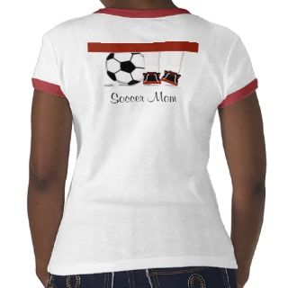 Soccer Mom in Red,Black and White Template Tee Shirts