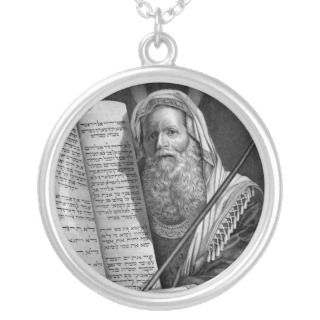 Moses and the Ten Commandments necklace