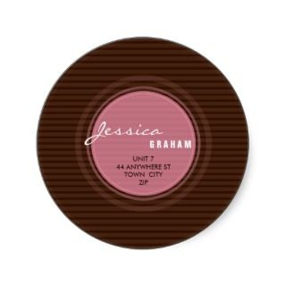 RETURN ADDRESS LABEL  radiate 5 Stickers