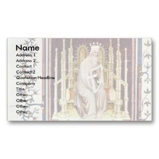 King David By Beauneveu André Business Card Templates