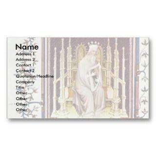 King David By Beauneveu André Business Card Templates