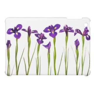 Purple Irises   Iris Flower Customized Template iPad Mini Case