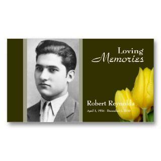Memorial Card Business Cards