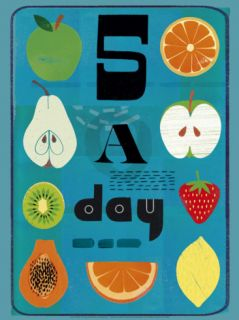 Five a Day Print by Jessie Ford