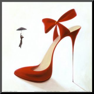 Highheels, Obsession Mounted Print by Inna Panasenko