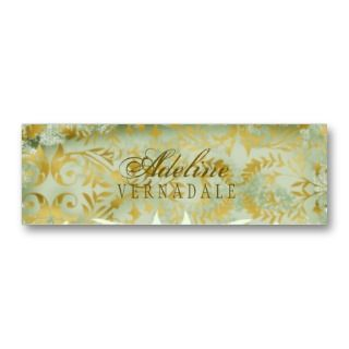 Vintage Melon Gold Hang Tag Business Card Template