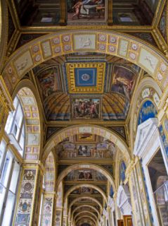 Russia, St Petersburg, Hermitage Museum; Catherine the Great Created a Copy of a Vatican Gallery Photographic Print by Katie Garrod