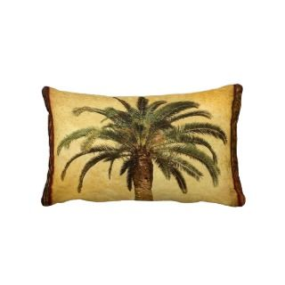 Palm Tree   Tropical Customized Template Throw Pillow