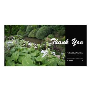 in a Zen Garden #2   Thank You Photo Card Template