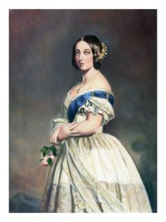 Young Queen Victoria W/Rose In Hand Giclee Print by Bettmann
