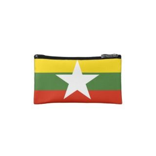 Myanmar Flag Makeup Bags