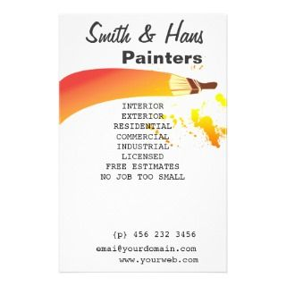 House Painter Artist Personalized Flyer