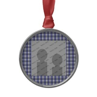 check. Blue, Gray, White. Photo Template. Ornament