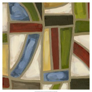 Stained Glass Abstraction IV Giclee Print by Karen Deans