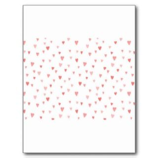 PINK PASSION HEARTS POSTCARDS