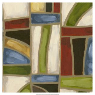 Stained Glass Abstraction II Giclee Print by Karen Deans