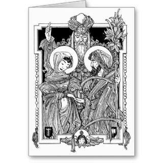 Cards, Note Cards and Catholic Wedding Greeting Card Templates