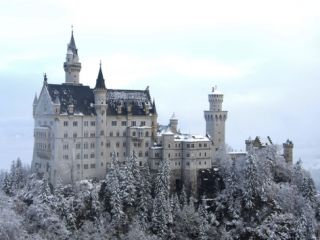 Neuschwanstein Castle in Winter, Schwangau, Allgau, Bavaria, Germany, ope Photographic Print by Hans Peter Merten