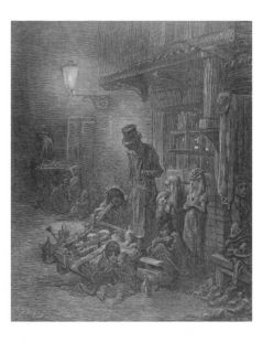 Wentworth Street, Whitechapel, from London a Pilgrimage by William Blanchard Jerrold Giclee Print by Gustave Dore