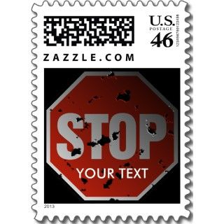 Stop Sign Custom Postage and Stop Sign Custom Stamps