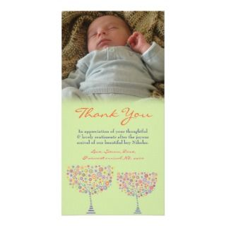 Thank You Note Baby Boy Photo Card Template
