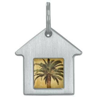 Palm Tree   Tropical Customized Template Pet Name Tags
