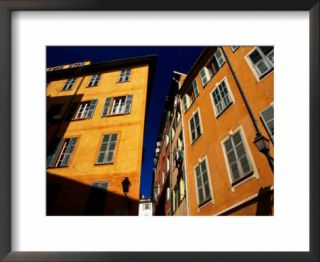 Colourful House Facades Overlooking Cours Saleya, Nice, Provence Alpes Cote dAzur, France Pre made Frame